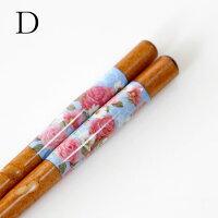 お箸薔薇柄薔薇雑貨/メール便可かわいいおしゃれピンク花柄ギフトローズ