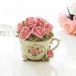 ローズカップ型小物入れ薔薇雑貨姫系雑貨かわいいジュエリーボックス