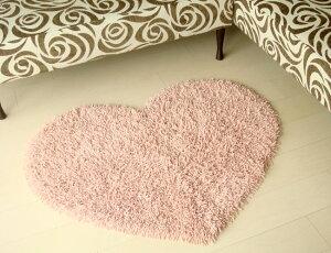 どこでも素敵な空間に変身♪ラブリーなハートマットハートシャギーラグ ピンク 薔薇雑貨姫系...