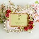 楽天写真立て ロココローズフォトフレーム 薔薇雑貨・姫系インテリア 結婚祝い ピンク かわいい バラ雑貨 ばら雑貨