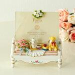ベアーソファアクリルフォトフレーム/写真立て結婚祝い薔薇雑貨姫系雑貨かわいい