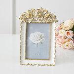 写真立てゴールドローズ結婚祝いフォトフレーム敬老の日ギフトおしゃれアンティーク調薔薇雑貨かわいいクラッシック