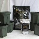 植え替えセット スリット6号鉢6個とNEWバラ専用の土サラブレット入り12リットル1袋とぼかし肥料1kg付き【バラ】【バラ苗】【バラの土】