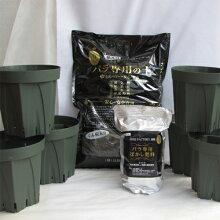 植え替えセットスリット6号鉢6個とNEWバラ専用の土サラブレット入り12リットル1袋とぼかし肥料1kg付き【バラ】【バラ苗】【バラの土】