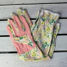 お花のガーデングローブロング丈Mサイズ(ガーデニング手袋)/UVカット綿100%【クロネコDM便対応】