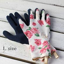 バラのガーデングローブショート丈Lサイズ(ガーデニング手袋)【クロネコDM便対応】