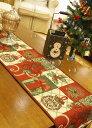 ポインセチア テーブルセンター33×180cm クリスマスコ...