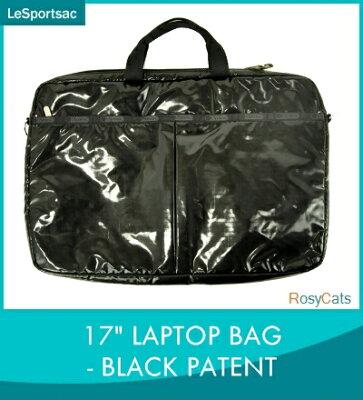 """[USA 正規品]LeSportsac/レスポートサック17"""" LAPTOP BAG [17"""" ラップトップバッグ]BLACK PATENT [ブラックパテント]7979-9902PCケース パソコンケース ノートPC 17インチ ノートパソコン バッグ 通勤バッグ レスポ ラップトップスリーブ レスポ 激安 母の日"""
