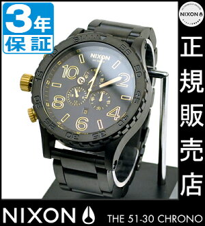 NIXON WATCH NA0831041-00 51-30 Chrono MATTE BLACK/GOLD