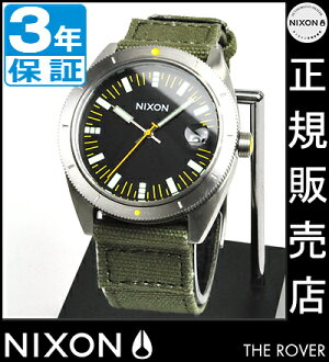 NIXON WATCH NA3551089-00 ROVER SURPLUS/BLACK