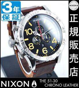 ニクソン腕時計レビューで次回1万円割引★送料無料[正規3年保証]NA124019ニクソン51-30CHRONOLEATHERニクソン腕時計メンズ腕時計NIXON時計NIXON51-30クロノレザークロノグラフBLACK/BROWN腕時計防水51-30nixon腕時計メンズ10P26Mar16