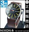 セール価格!★ ニクソン 腕時計 レビューで10%OFFクーポン(次回)★ 送料無料 [正規3年保証] NA105019 ニクソン セントリー レザー ニクソン 腕時計 メンズ 腕時計 NIXON 時計 NIXON SENTRY LEATHER BLACK/BROWN ニクソン 腕時計 メンズ nixon 腕時計