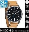 ニクソン 腕時計 送料無料 [正規3年保証] NA1051602 ニクソン セントリー レザー ニクソン メンズ NIXON 時計 NIXON SENTRY LEATHER NATURAL/BLACK ニクソン 時計 nixon 時計