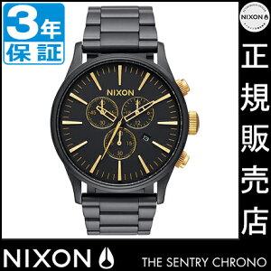 ニクソン腕時計レビューで次回1万円割引★送料無料[正規3年保証]NA3861041ニクソンセントリークロノニクソン腕時計メンズ腕時計NIXON時計NIXONSENTRYCHRONOMATTEBLACK/GOLDニクソン時計nixon時計10P26Mar16