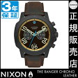 ニクソン 腕時計 送料無料 [正規3年保証] NA9402209 ニクソン レンジャー クロノ レザー ニクソン 腕時計 メンズ 腕時計 NIXON 時計 NIXON RANGER CHRONO LEATHER ALL BLACK/BRASS/BROWN ニクソン 時計 nixon 時計 母の日