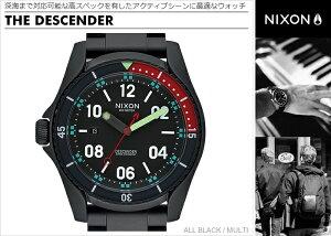 ニクソン腕時計レビューで次回1万円割引★送料無料[正規3年保証]NA9591320ニクソンディセンダーニクソン腕時計メンズ腕時計NIXON時計NIXONDESCENDERALLBLACK/MULTI腕時計nixon腕時計メンズ腕時計防水10P26Mar16