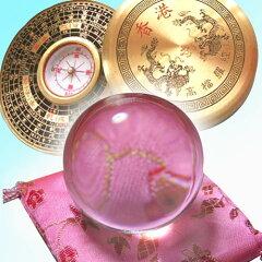 運気アップのアイテム!【中国雑貨】クリスタル風水玉&風水盤(丸)    02P07Mar11