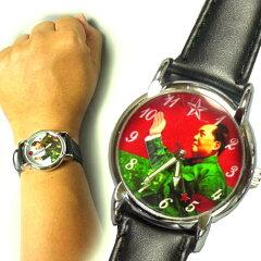 あなたのコレクションマニア魂をくすぐる!手が動く!毛沢東主席★腕時計   【SBZcou1208】