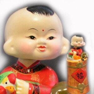 首をふりふり♪味のある表情!首振り人形(くびふり人形)招福童 84番【セール】