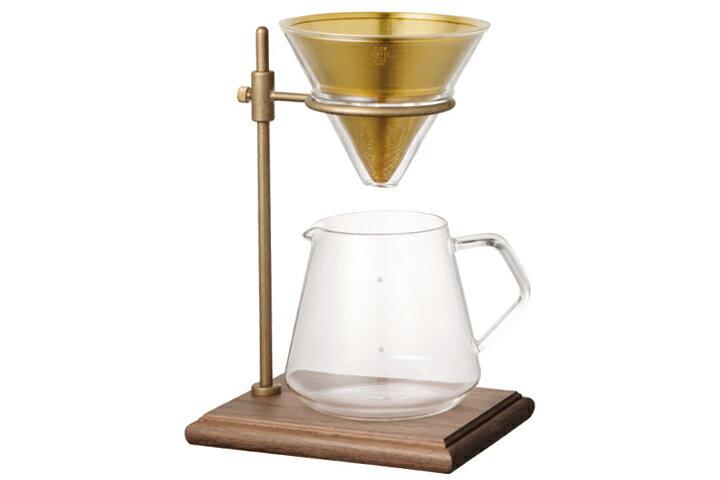 KINTO キントー スペシャルティー コーヒーサーバー&コーヒーブリューワー スタンドセットKINTO SLOW COFFEE STYLE Specialty 700ml スローコーヒースタイル 真鍮✕ウォールナットスタンド【ポイント】