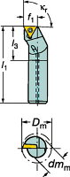 [A08KSTFPL06]サンドビックコロターン111ポジチップ用ボーリングバイト[1個入]【サンドビック(株)】(A08K-STFPL)