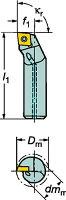 [A08KSCLPR06R]サンドビックコロターン111ポジチップ用ボーリングバイト[1個入]【サンドビック(株)】(A08K-SCLPR)