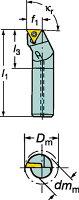 [A16RSTFPL11]サンドビックコロターン111ポジチップ用ボーリングバイト[1個入]【サンドビック(株)】(A16R-STFPL)