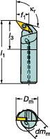 [A16RSVQCR11E]サンドビックコロターン107ポジチップ用ボーリングバイト[1個入]【サンドビック(株)】(A16R-SVQCR)