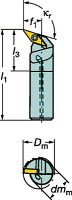 [A16RSVQCL11ER]サンドビックコロターン107ポジチップ用ボーリングバイト[1個入]【サンドビック(株)】(A16R-SVQCL)