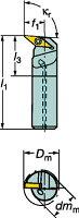 [A16RSVUCL11E]サンドビックコロターン107ポジチップ用ボーリングバイト[1個入]【サンドビック(株)】(A16R-SVUCL)