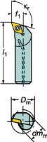 [A16RSDQCR07]サンドビックコロターン107ポジチップ用ボーリングバイト[1個入]【サンドビック(株)】(A16R-SDQCR)