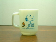 "FIRE KING MUG CUP SNOOPY ""COFFEE BREAK""FIRE KING (ファイヤーキング)SNOOPY(スヌーピー)CO..."