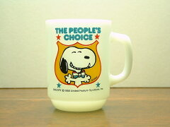 "FIRE KING MUG CUP SNOOPY ""FOR PRESIDENT COLLECTORS SERIES NO.4""FIRE KING (ファイヤーキン..."