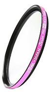 ●定形外送料無料●新品【ピンク枠】薄型MC UVレンズ保護フィルター(径:49mm)
