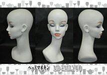 女性マネキンヘッドホワイトオフピアス穴ウィッグアクセサリ美容ヘアー撮影流行ファッションヤングレディス
