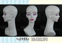 女性マネキンヘッド白ピアス穴ウィッグアクセサリ美容ヘアー撮影流行ファッションヤングレディス