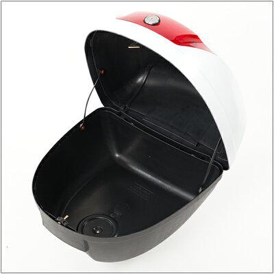 リアボックストップケースバイクホワイト白28L簡単装着【あす楽】【配送種別:B】