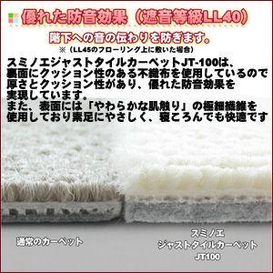 タイルカーペット【カード決済のみ】スミノエジャストタイルカーペットJT-10040cm角10枚入(SM-1-10)