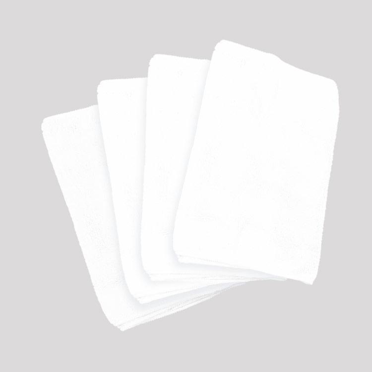 【送料無料】【マイクロファイバーフェイスタオル4枚ホワイトピンクブルーベージュ柔軟性】『肌触りもちもち極細繊維マイクロファイバーフェイスタオル(極)30×80cm4枚セット』スポーツバスタイムお風呂旅行プレゼント贈り物(B868-4)