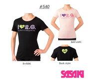 【2019新商品】I♥R.G.レディースTシャツ#540【10%OFF】SASAKI【ネコポス対象商品】