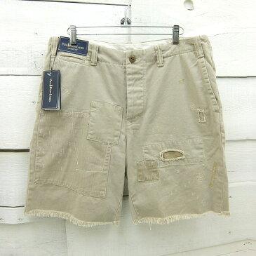 Ralph Lauren ラルフローレン ヴィンテージ加工 STRAIGHT FIT ショートパンツ メンズ W35 / shortpant63 / 【中古】