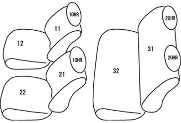 clazzio シートカバー クラッツィオネオタイプ トヨタ ハイエース ナロー 型式 KDH201/KDH206/TRH200 年式 H24/5- 定員 5人 グレード S-GL/S-GLプライムセレクション/S-GLダークプライム ≪ ガソリン車 2列目シートベルト標準装備車 ≫