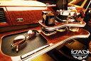 ギャルソン DAD 【 フロントテーブル ≪ トレイデザイン 標準仕様 ≫】 トヨタ ヴォクシー ボクシー 型式 AZR60G/AZR65G 年式 H13/11-H19/6 ≪ トレイデザイン&ウッドカラー:要選択 ドリンクホルダー部:スクエアタイプ ≫