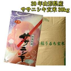 30年山形県産ササニシキ玄米30k