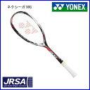 ヨネックス ソフトテニスラケット ネクシーガ90G NXG90G ジャパンレッド UL1 SL1 後衛 軟式 ガット張り...