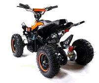 最新大口径6インチ仕様!前後ディスクブレーキ50ccMINI四輪バギー最高速度45km/hオレンジトリプルサス仕様