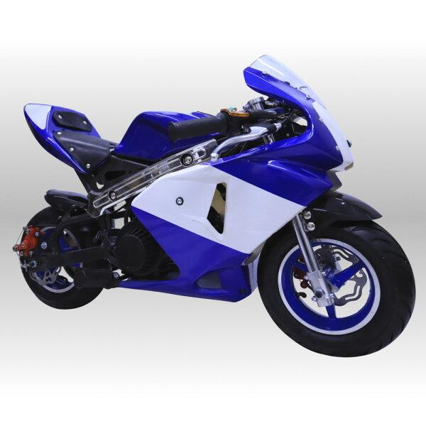最速50ccポケバイエンジン搭載ポケバイポケットバイク GP青白カラーモデル格安消耗部品