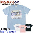 ★メール便送料無料★ ねこぶちさん 半袖 プリント Tシャツ メンズ 11929505 カットソー キャラクター 猫 ネコ