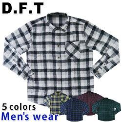 ★条件付き送料無料★ネルシャツメンズチェックシャツ9043長袖カジュアルフランネル厚手