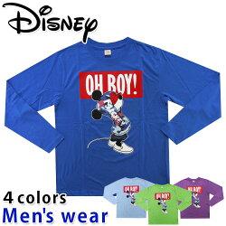 ★メール便送料無料★ディズニー長袖Tシャツメンズ12141010ミッキーマウスDisneyグッズネズミ